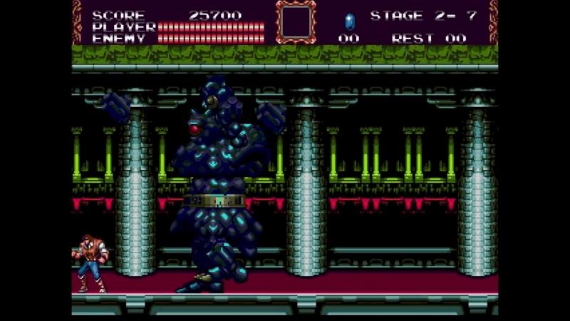 Castlevania Bloodlines (Morris, Expert) - 04 Golem (No Dmg, Subwpns, Upgrades)