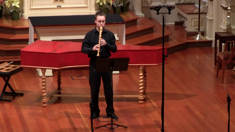 J.S. Bach Partita BWV 1013_ Jan Van Hoecke, recorder; Voices of Music Bach Competition 2012