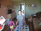 active game(with uno cards and twister playmat)