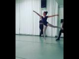 Маленькие балерины и их папы.