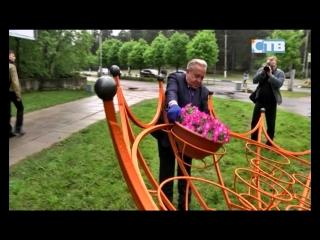 09.06.2017 Началась высадка цветов в декоративные зонтики