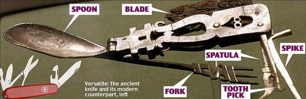 Римский армейский раскладной нож