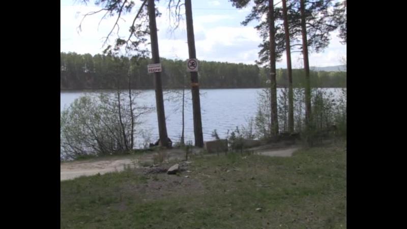 Семь добровольцев очистили берег озера