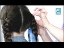 Прическа для девочек с длинными волосами/видео урок
