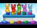 Bad Gummy Bear crying jumping on the colors toys finger family song for children Gummybear kids