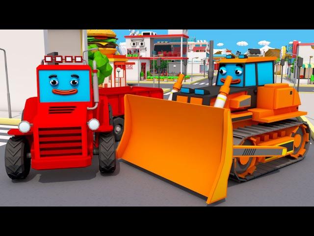 Tractor Alegre y Camiones - Las sorpresas interesantes | Aventuras Amigos - Dibujos Animados