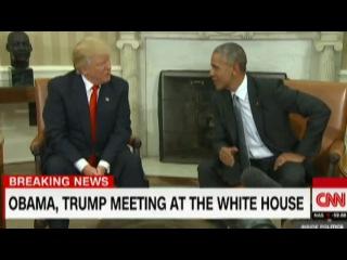Вести.Ru: Великолепная встреча: Обама и Трамп полтора часа искали общий язык