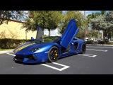2016 Lamborghini Aventador Roadster LP700-4 in Blue Inaco Matte Acceleration Start Up and Revs
