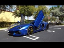2016 Lamborghini Aventador Roadster LP700 4 in Blue Inaco Matte Acceleration Start Up and Revs