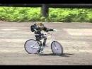 二足歩行ロボットを自転車に乗せてみた(The biped robot whict rides on a bicycle.)