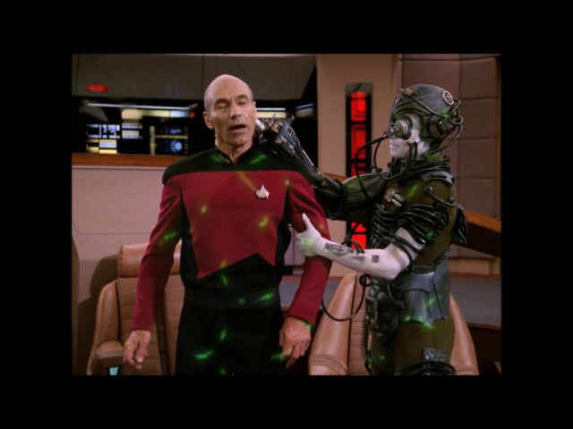 Picard is kidnapped by the Borg -