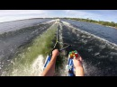 Solving a Rubik's Cube on water skis