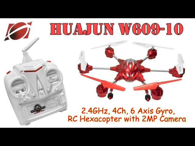 HUAJUN W609-10 2.4GHz, 4Ch, 6 Axis Gyro, RC Hexacopter with 2MP Camera (RTF)