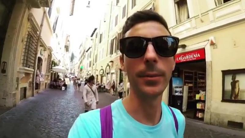 Probando cosas típicas de Roma!! roma italy apu... Рим 17.08.2017