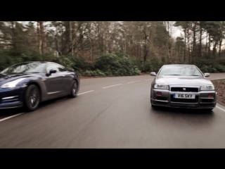 Car Throttle R34 Nissan Skyline GT-R Vs R35 GT-R The Ultimate Godzilla Review [BMIRussian]