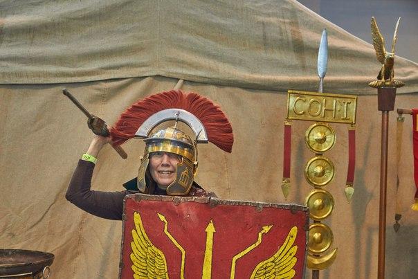 Фотосессия в римских доспехах