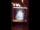 Стеклянный кристалл с гравировкой фотографии внутри