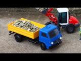 Dump Truck Crane &amp Bulldozer working together - Construction Kids Cartoon  New Truck for children