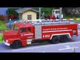 Real Kids Animation Fire Truck and Police Car in the City  Car Cartoons for children