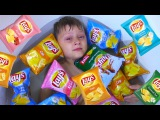 Bad Baby Steals Chips Learn Colors with Johny Johny Yes Papa Song Nursery Rhymes for Kids