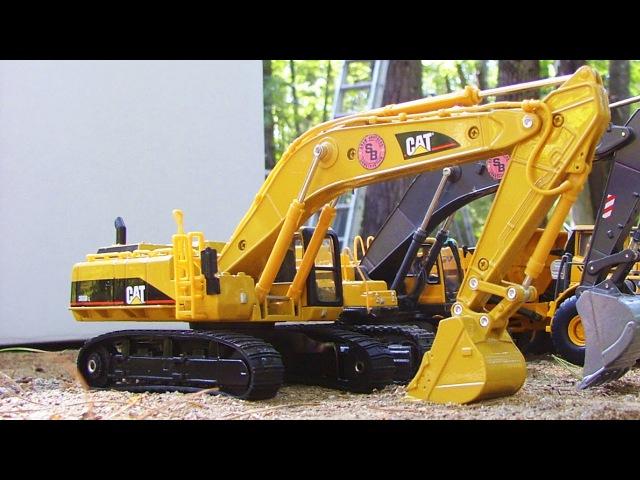 Große Autos - Gelb Bagger - Rote Traktor - Reparaturen Straßen! - Kinderfilme Deutsch