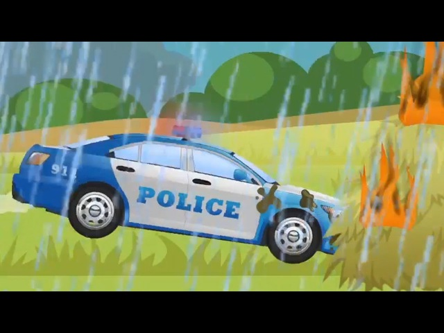 Voiture de Police Rapide et ses Amis avec La Méchante Voiture de Course | Dessins animés pour bébés