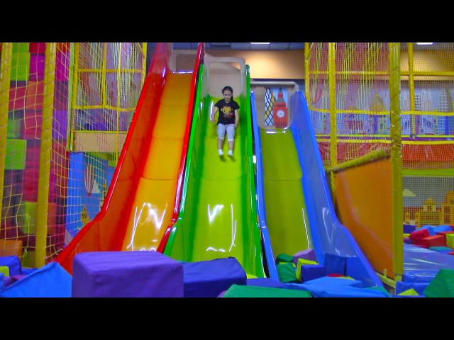 Learn Colors with Bad BABY Indoor Playground Family Fun Play Area Nursery Rhymes for kids