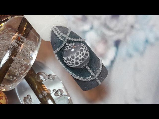 Наращивание и дизайн ногтей. Как сделать кружева без геля-пластилина. Новогодни ...