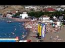 Крым Судак пляж и море утром Зарядка банан парашют 13 июня 2017 г