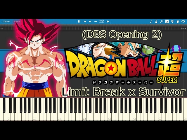 Limit Break x Survivor - Dragon Ball Super OP 2 (Piano Tutorial)