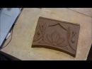 Отминка декоративных шамотных плит Pressing decorative chamotte plates