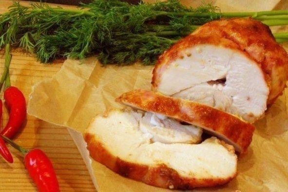 Куриная пастрома Ингредиенты: куриное филе - 500 гр. вода -1