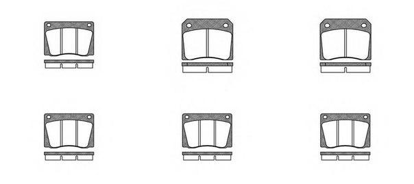 Комплект тормозных колодок, дисковый тормоз для ASTON MARTIN V8 купе