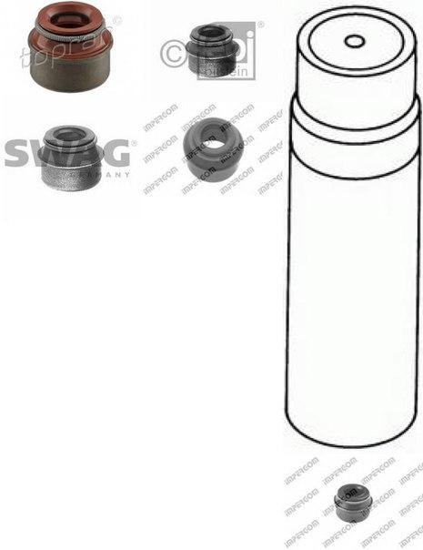 Уплотнительное кольцо, стержень кла для AUDI 50 (86)