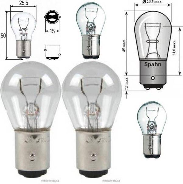 Лампа накаливания, фонарь сигнала тормож./ задний габ. огонь; Лампа накаливания; Лампа накаливания, фонарь сигнала тормож./ задний габ. огонь для AUDI A2 (8Z0)