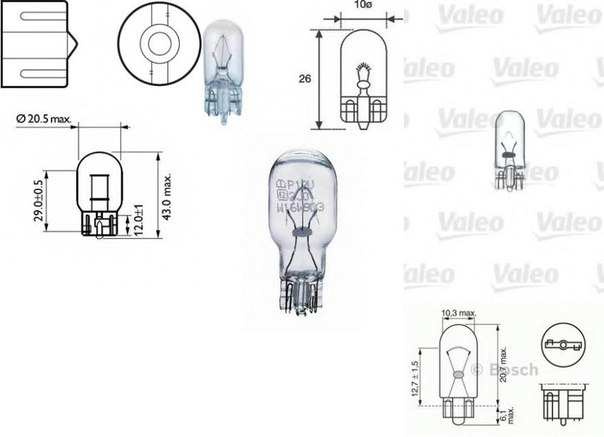Лампа накаливания, фонарь сигнала торможения для AUDI A3 кабрио (8V7)