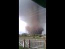 Огромный торнадо у села Славгородка ( Одесский район, Омская область, 9.06.2017)