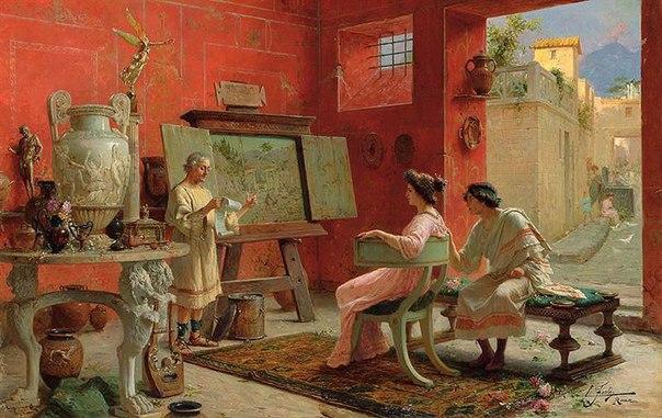 Итальянский художник Этторе Форти