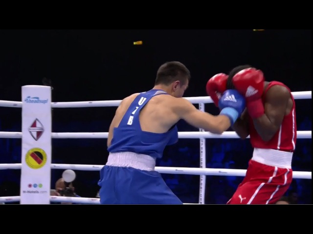 AIBA Hamburg 2017 ARGILAGOS Joahnys CUB vs DUSMATOV Hasanboy UZB (46-49kg) final