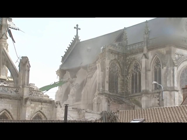 How The West Dies - France Demolishes Neo-Gothic Church From 1868