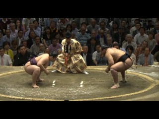 Endo vs Osunaarashi Day 12 Sumo Natsu Basho May 2014