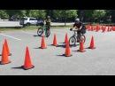 Тренировки полицейских на велосипедах
