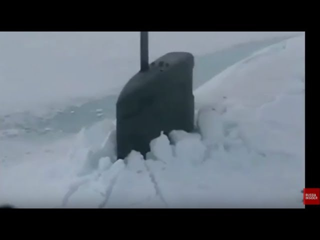 EMBARASSING: Russian Mi-8 helicopter flying around US Seawolf submarine stuck in the Arctic ice