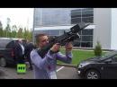 Für Menschen ungefährlich : Anti-Drohnen-Handwaffe in Russland vorgestellt