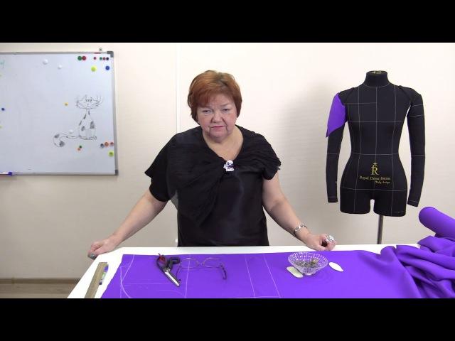 Моделирование жакета без выкройки с цельнокроеным рукавом своими руками Как быстро сшить жакет