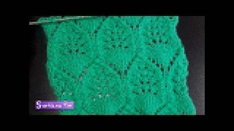 Схема вязания спицами ажурного узора ромбы. Вязание 510