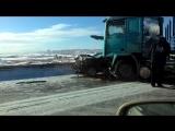 Видео последствий аварии на глубоком обходе 18.02.2017