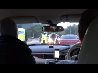 Police DUI raid funny fail - testing passenger instead the real driver (Estonia)