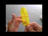Жёлтая лилия из бисера.Часть 1 - Узкие лепестки
