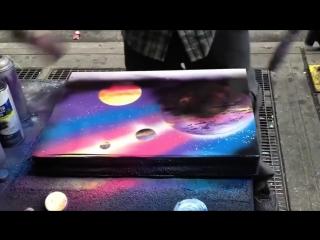 Удивительно талантливый уличный художник (720p)
